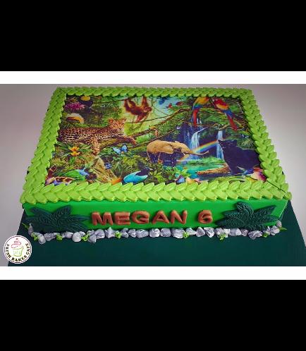 Jungle Animals Themed Cake 16