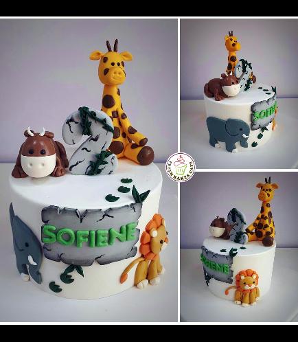 Jungle Animals Themed Cake 17