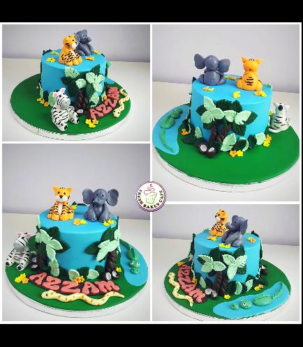 Jungle Animals Themed Cake 18