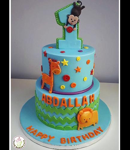 Jungle Animals Themed Cake 21