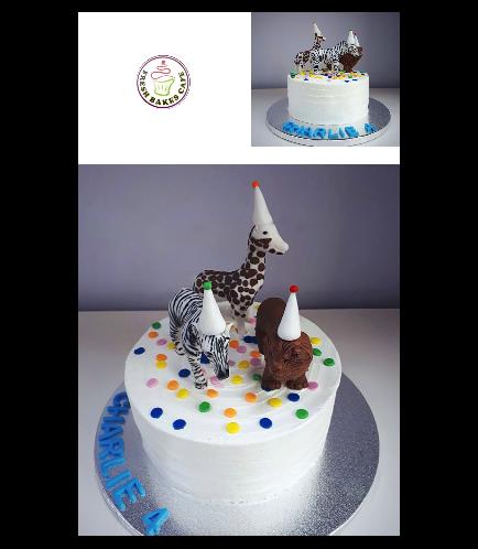 Jungle Animals Themed Cake 22