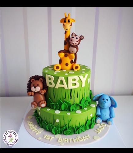 Jungle Animals Themed Cake 25