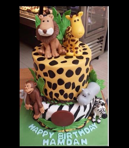 Jungle Animals Themed Cake 02