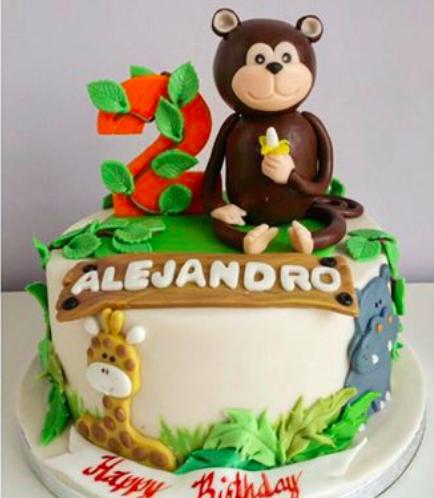 Jungle Animals Themed Cake 03