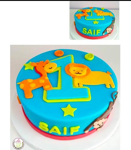 Jungle Animals Themed Cake 2