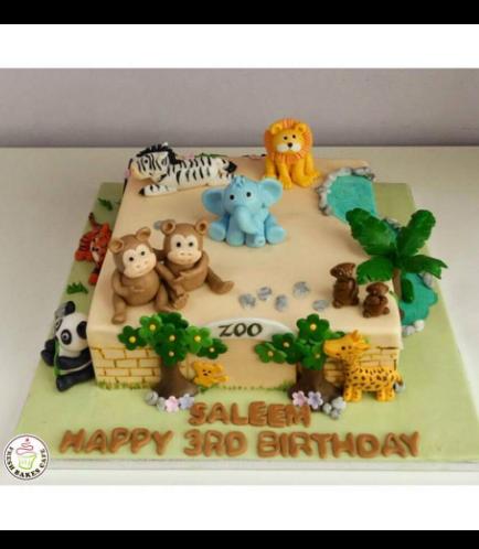 Jungle Animals Themed Cake 5a
