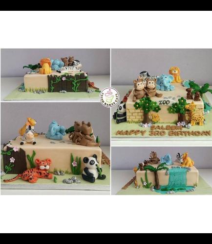 Jungle Animals Themed Cake 05b