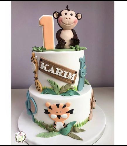 Jungle Animals Themed Cake 6a