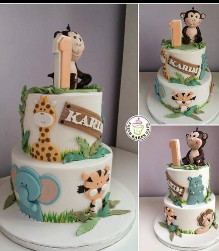 Jungle Animals Themed Cake 06b