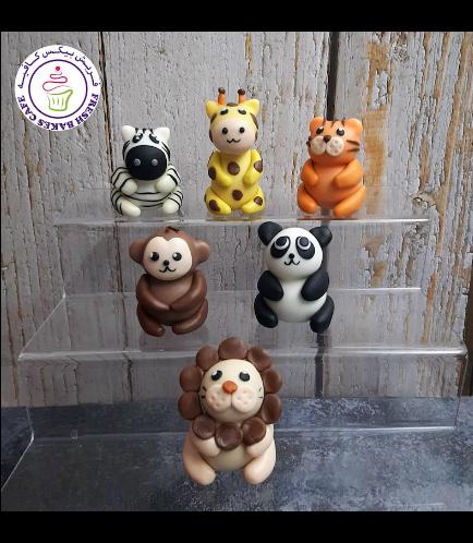 Animals Themed Cake Pops w/o Sticks - Jungle Animals