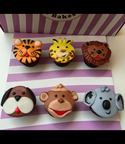 Jungle Animals Themed Cupcakes 01