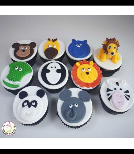 Jungle Animals Themed Cupcakes 02