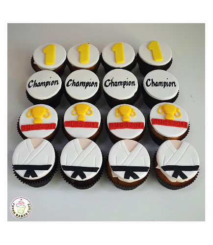 Karate Themed Cupcakes 01