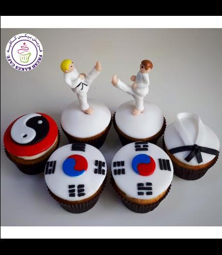 Karate Themed Cupcakes 02
