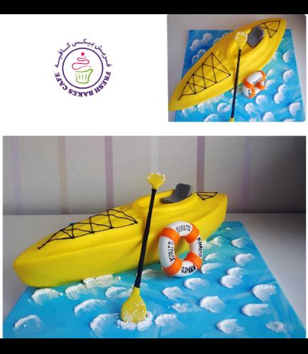 Kayak Themed Cake