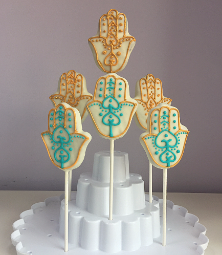 Khamsa Themed Cake Pops