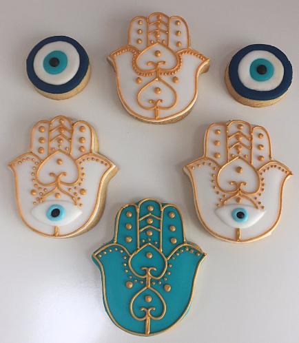 Khamsa & Evil Eye Themed Cookies 2