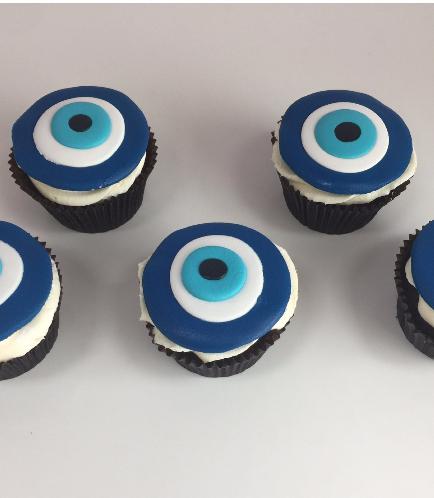 Khamsa & Evil Eye Themed Cupcakes