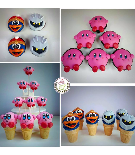 Kirby & Friends Themed Cupcakes, Cone Cake Pops, & Cake Pops