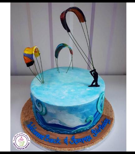 Kiteboarding Themed Cake