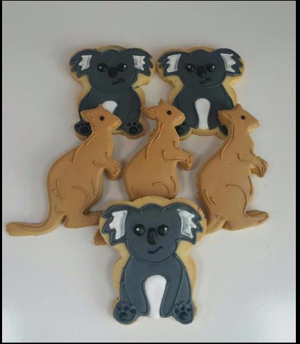 Koala & Kangaroo Themed Cookies