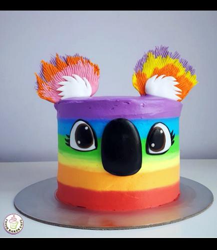 Koala Themed Cake - 2D Cake 01