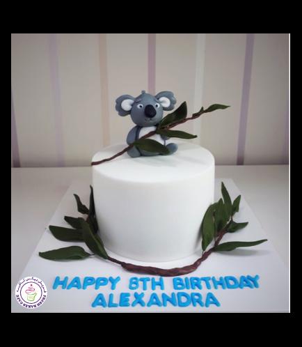 Koala Themed Cake - 3D Cake Topper
