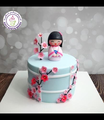 Cake - Cherry Blossom - Kokeshi Doll 02