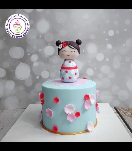 Cake - Cherry Blossom - Kokeshi Doll 03