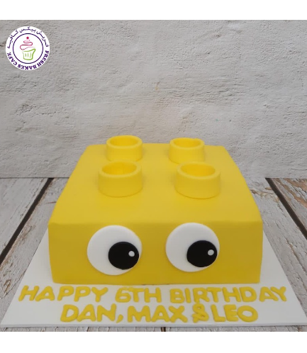 LEGO Bricks Themed Cake - LEGO Duplo Brick