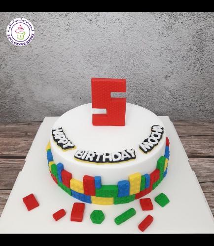 LEGO Bricks Themed Cake - Round Cake 03