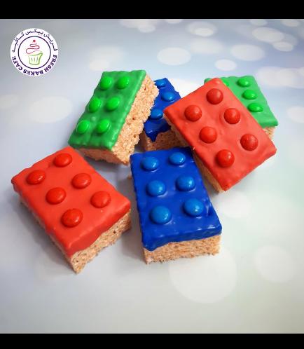 LEGO Themed Krispie Treats