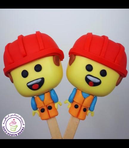 LEGO Themed Popsicakes - LEGO Man