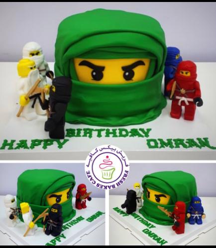 LEGO Ninjago Themed Cake - Character Head - 3D Cake & 3D Characters