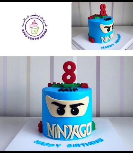 LEGO Ninjago Themed Cake - Character Head - 3D Cake 02