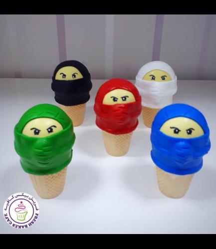 LEGO Ninjago Themed Cone Cake Pops 02