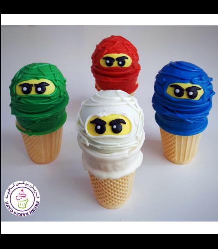 LEGO Ninjago Themed Cone Cake Pops 03