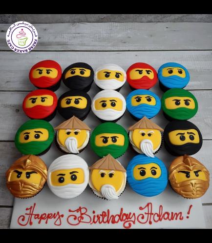 LEGO Ninjago Themed Cupcakes - 2D Fondant Toppers 04