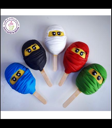 LEGO Ninjago Themed Popsicakes