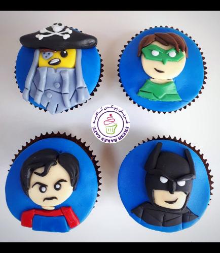 LEGO Superheroes Themed Cupcakes
