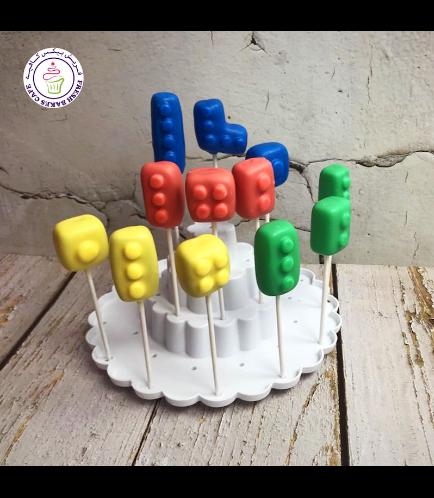 LEGO Themed Cake Pops - Bricks