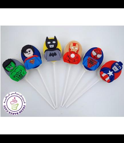Superheroes Themed Cake Pops - LEGO