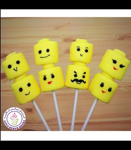 LEGO Themed Marshmallow Pops