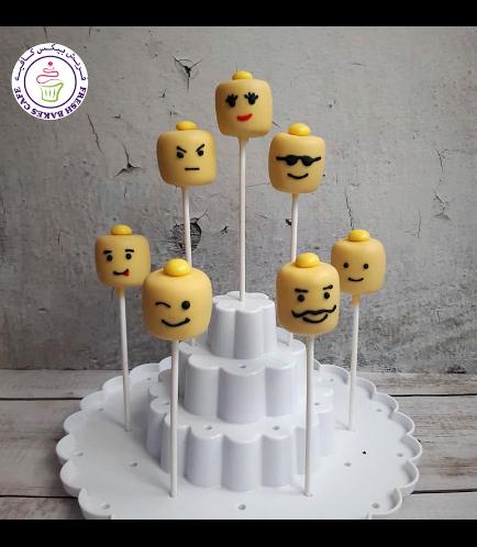LEGO Themed Marshmallow Pops - Bricks - Heads - 1 Piece