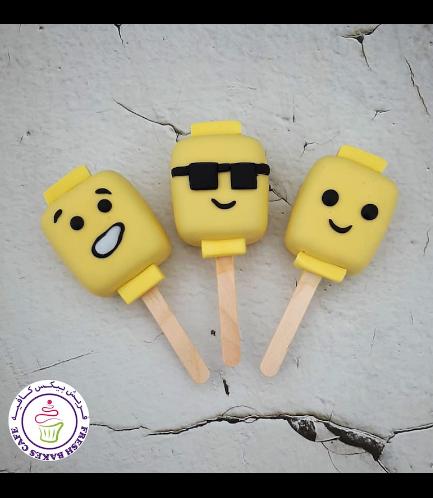 LEGO Themed Popsicakes - Bricks - Heads