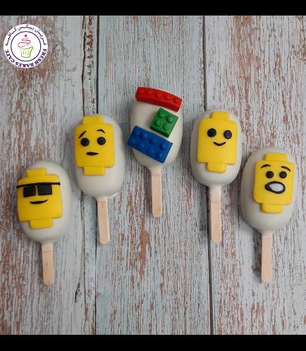 LEGO Themed Popsicakes - Bricks