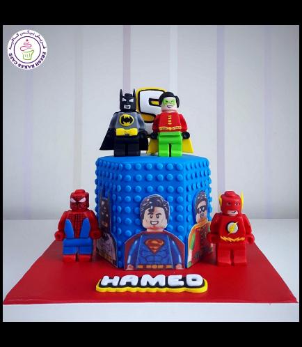 LEGO Superheroes Themed Cake