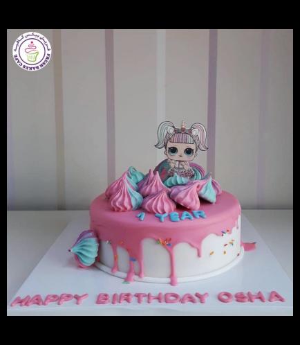 LOL Surprise Doll Themed Cake 12b