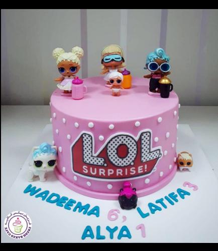 LOL Surprise Doll Themed Cake 01b