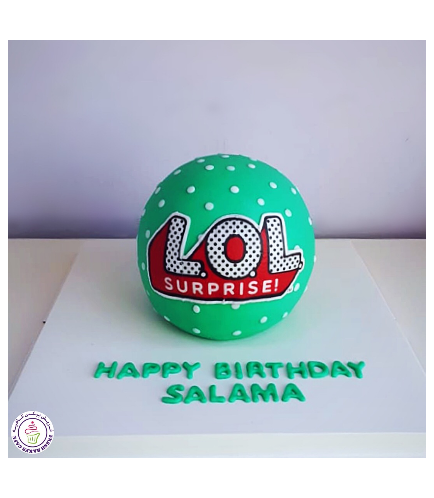 LOL Surprise Doll Themed Cake 02a